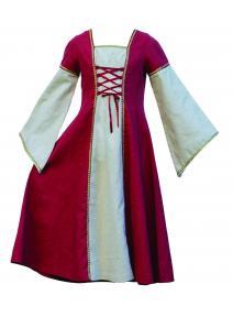 Vestido de princesa medieval - 4 a 6 años.