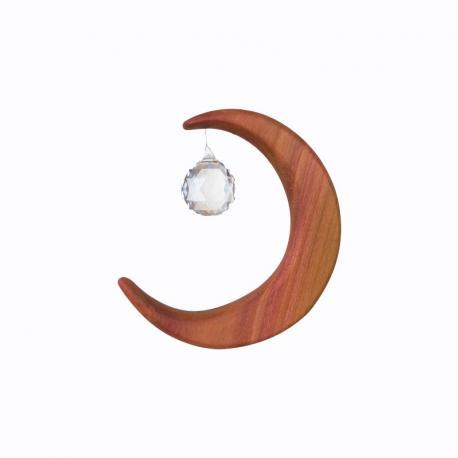 Móvil de madera Luna