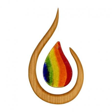 Móvil de madera Arco Iris