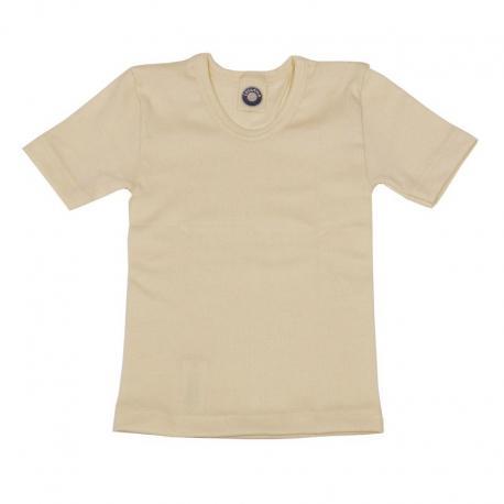 Camiseta interior de lana y seda