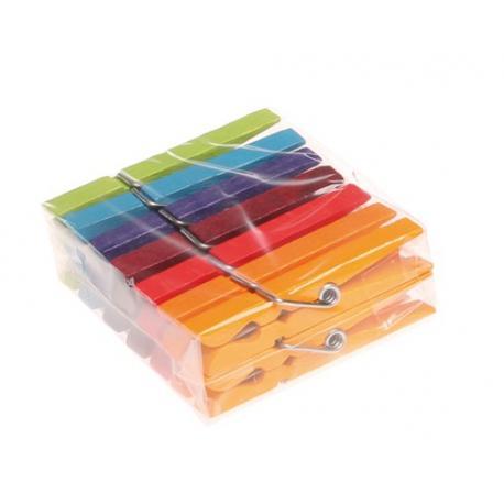 Pinzas de madera Arco Iris 14 unidades