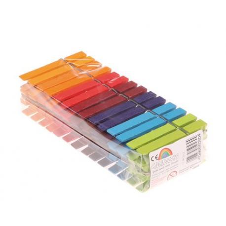 Pinzas de madera Arco Iris 42 unidades