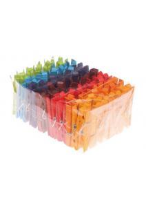 Pinzas de madera Arco Iris 126 unidades