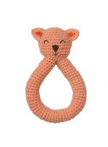 Sonajero Gato de ganchillo de algodón orgánico