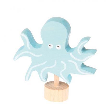 Figura de madera Pulpo