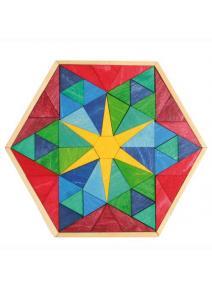 Puzzle de madera estrella hexagonal