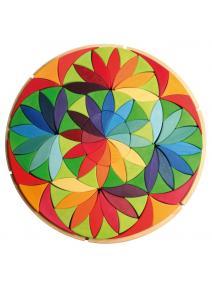 Puzzle de madera flor