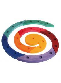 Espiral de madera arco iris