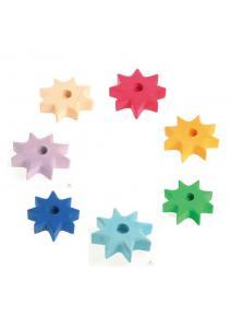 Portavelas de madera estrella