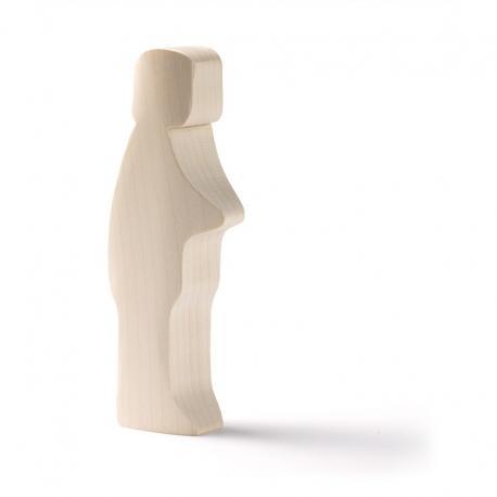 Muñeco de madera base - padre.