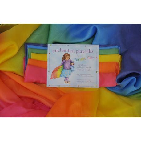 Pañuelo de juego de seda multicolor