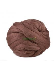 Lana cardada en cinta - marrón claro