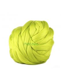 Lana cardada en cinta - verde brillante