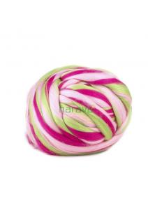 Lana cardada en cinta - multicolor