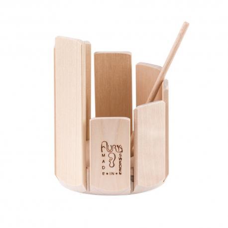 Tambor xilófono de madera