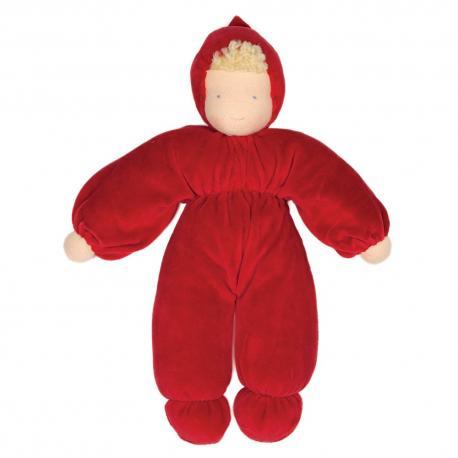 Muñeca waldorf roja