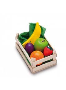 Surtido de frutas de madera