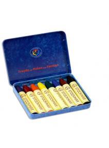Lapices de cera  8 colores surtido estándar Stockmar