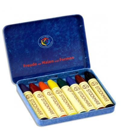 Stockmar - Lápices de cera 8 colores - surtido Waldorf - caja me