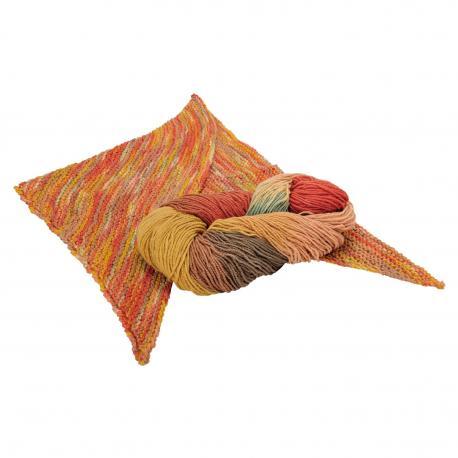 Lana orgánica y seda - colores otoño