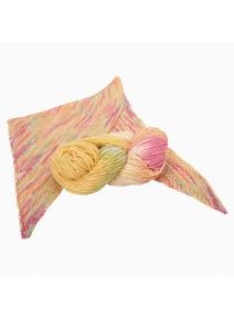 Lana orgánica y seda - colores primavera