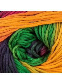 Lana merino - amarillos, verdes y morados