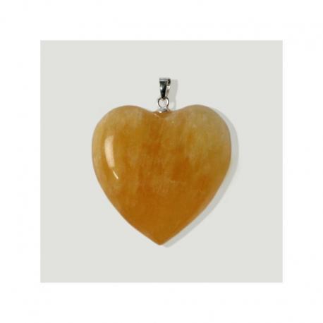 Colgante de plata corazón Calcita