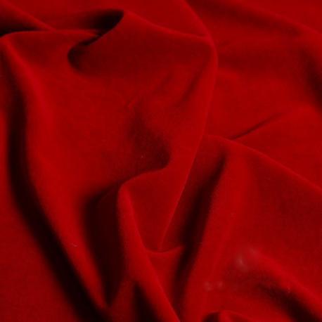 Tela terciopelo de algodón orgánico