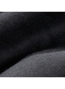 Tela para muñecas de algodón orgánico - negro