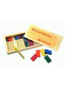 Stockmar - Lápices/bloques caja de madera de cera 8/8