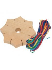 Estrella para tejer de madera