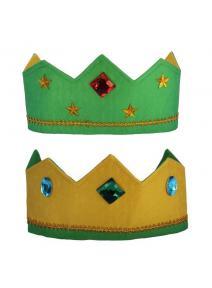 Corona de seda reversible verde
