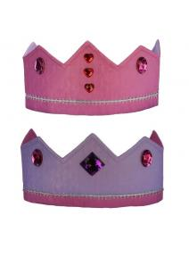 Corona de seda reversible rosa