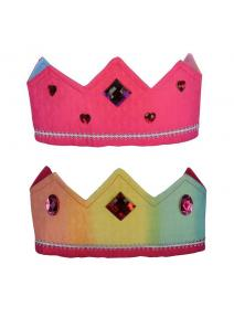 Corona de seda reversible arcoiris