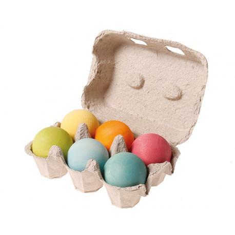 Bolas de madera pastel