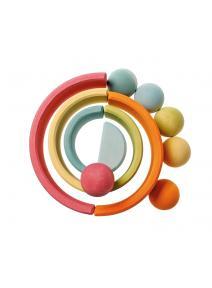 Bolas de madera color pastel