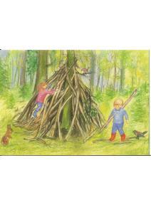 Postal - Nuestra cabaña en el bosque