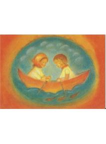 Postal - Ruth y Hans en el barco