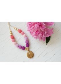 Collar de lactancia rosa/lila