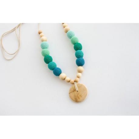 Collar de lactancia azul/turquesa