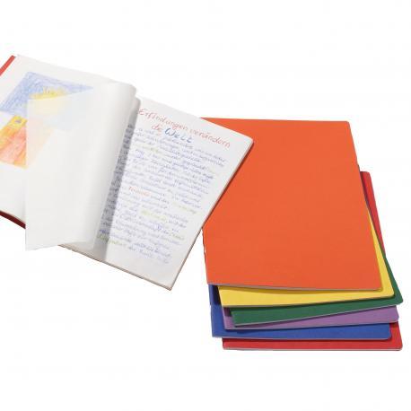 Cuaderno vertical  grande con hoja de seda