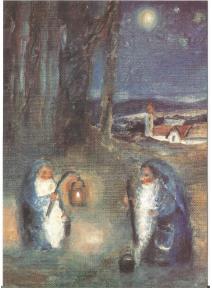 postal - Pico el enanito azul