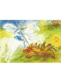 Postal - San Jorge vence al dragón