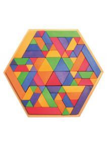 Puzzle de madera trapezoide grimms