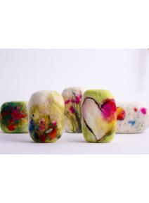 Jabón ecológico recubierto de lana