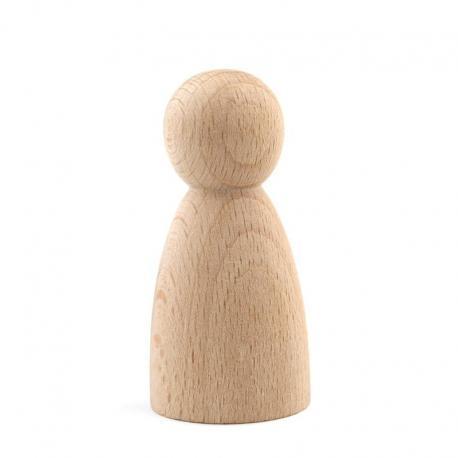 Figura cónica de madera