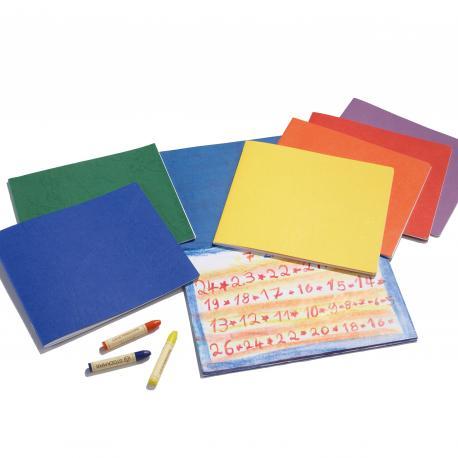 Cuaderno apaisado pequeño con hoja de seda