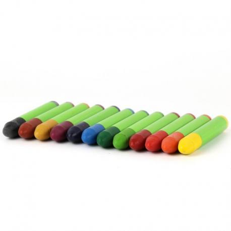Lápices de cera 12 colores Ökonorm