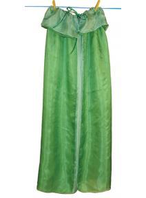 Capa de seda reversible verde/esmeralda