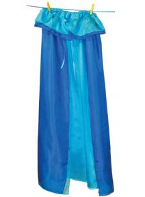 Capa de seda reversible  - turquesa - azul.